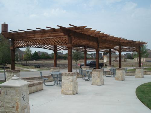 Hoa Pool Pavillion Kimzey Construction Dallas Fort